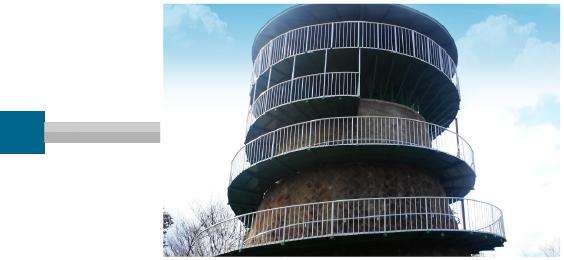1964年 五月山に日の丸展望台を私財を投じて建設